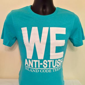 We Anti-Stush Turquoise & White Tees