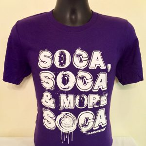 Soca, Soca & More Soca Purple & White Tee