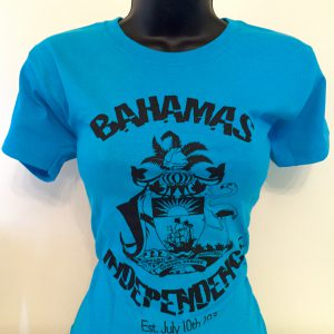 Bahamas Independence Turquoise & Black Tees