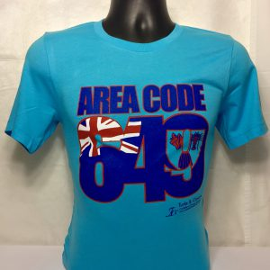 AREA CODE 649 MENS FITTED TEE
