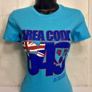AREA CODE 649 LADIES FITTED TEE