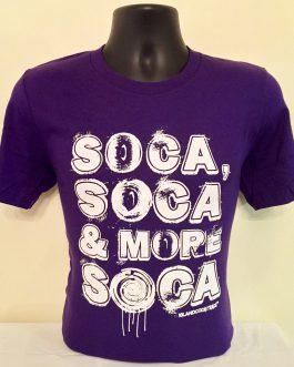 Soca, Soca & More Soca Purple & White Tee