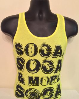 Men's Neon Bright Black & Yellow Tank Tees