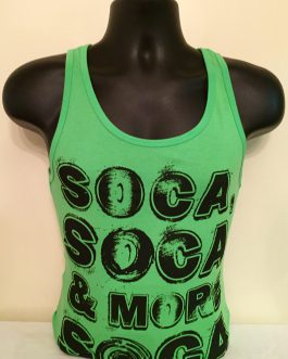 Mens Neon Bright Green & Black Tank Tees