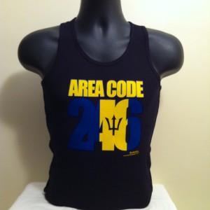 Men's Black Area Code 246