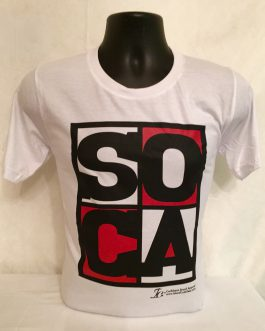 Men's Soca Red, White, Black Fitted Tees
