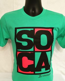 Men's Soca Mint Red & Black Tees