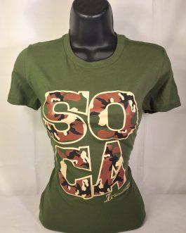 Soca Camouflage Ladies Fitted Tees