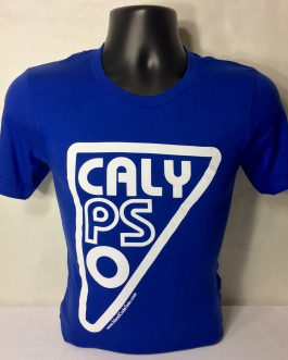 Men's Calypso Crew Neck Fitted True Royal/White